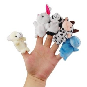 Finger Puppets - Animal shape - 10 styles per set
