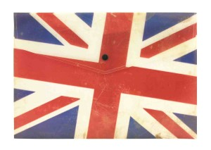 Fashion Stationery Union Jack Design A4 Popper File