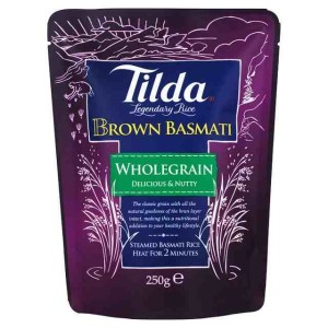 Tilda Steamed Basmati Brown Rice 250g