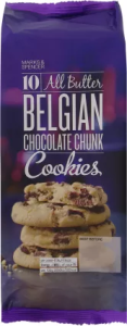 M&S 10 All Butter Belgian Chocolate Chunk Cookies 225g