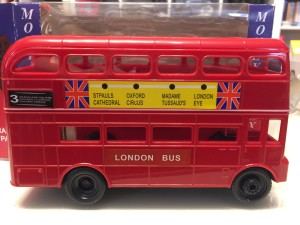 Large London Routemaster Bus Plastic Money Box