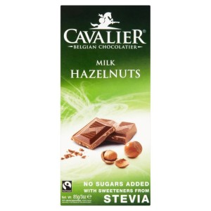 Cavalier Milk Chocolate with Hazelnuts No Sugar Added Bar 85g