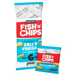 Burton's Fish & Chips Salt & Vinegar Multipack 6 x 25g
