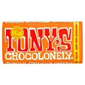 Tony's Chocolonely Milk Chocolate Caramel Sea Salt 180g