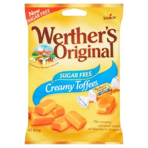 Werther's Creamy Toffees Sugar Free 80g