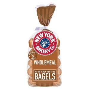 New York Bakery Co. Wholemeal Bagels 5 per pack