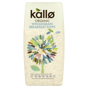 Kallo Organic Wholegrain Breakfast Rice Puffs 225g