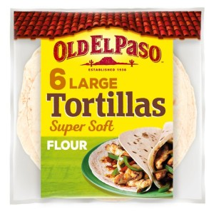 Old El Paso Large Super Soft Flour Tortillas x 6 350g