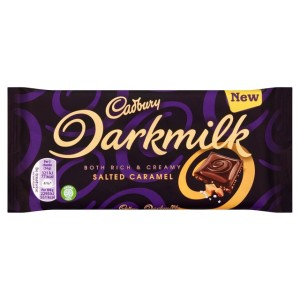 Cadbury Darkmilk Salted Caramel Chocolate Bar 85g