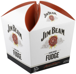 Jim Beam® Bourbon Whiskey Hand Made Fudge Carton 250g