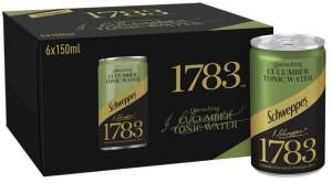 Schweppes 1783 Quenching Cucumber Tonic Water 6 x 150ml