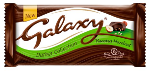 Galaxy Darker Collection Roasted Hazelnut Milk Chocolate 105g