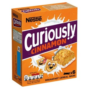 Nestle Curiously Cinnamon Cereal Bar 6 x 25g
