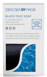 Dead Sea Spa Magik Black Mud Soap Bar 100g