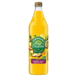 Robinsons Fruit Creations Pineapple, Mango & Passionfruit No Added Sugar 1L