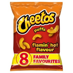 Cheetos Puffs Flamin Hot Snacks 8 x 13g per pack