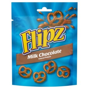 Flipz Milk Chocolate Covered Pretzels Pouch 100g