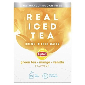 Lipton Real Iced Tea Green Tea + Mango + Vanilla 15 Tea Bags