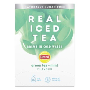 Lipton Real Iced Tea Green Tea + Mint 15 Tea Bags