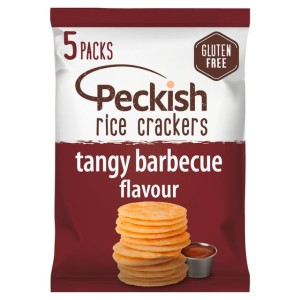 Peckish Tangy BBQ Gluten Free Rice Crackers 5 x 20g