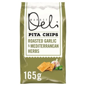 Walkers Market Deli Garlic & Herbs Pita Chips 165g