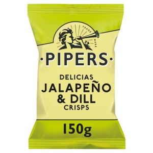 Pipers Delicias Jalapeno & Dill Crisps 150g