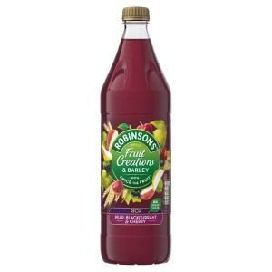 Robinsons Fruit Creations & Barley Pear, Blackcurrant & Cherry 1L
