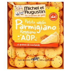 Michel et Augustin Small Shortbreads Parmesan Cheese Mustard 120g