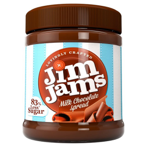JimJams 83% Less Sugar Milk Chocolate Spread 350g