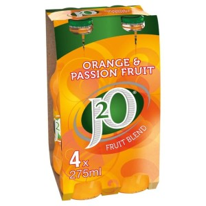 J2o Orange & Passionfruit 4 x 275ml bottle - J2o Pomarańcza&Marakuja