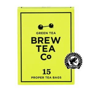 Brew Tea Company Green Tea 15 Proper Tea Bags