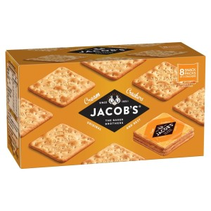 Jacob's Cream Cracker Snackpack 8 x 3 cracker 192g