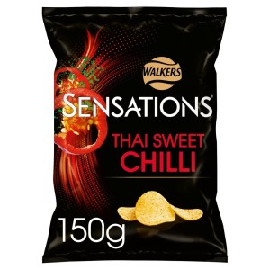 Walkers Sensations Thai Sweet Chilli Crisps 150g