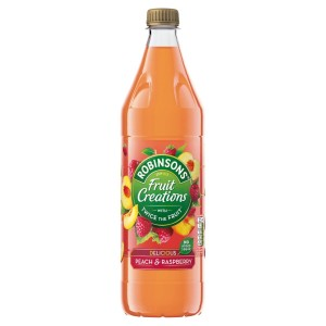 Robinsons Fruit Creations Peach & Raspberry No Added Sugar 1L