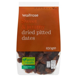 Waitrose Sweet & Jammy dried pitted dates 250g