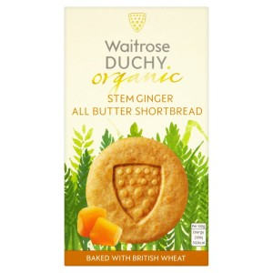 Duchy Originals organic stem ginger all butter shortbread 150g