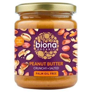 Biona Organic Peanut Butter Crunchy with Sea Salt 250g
