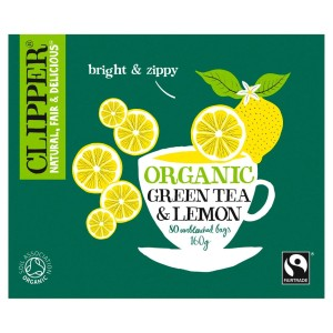 Clipper Fairtrade Green with Lemon 80 per pack