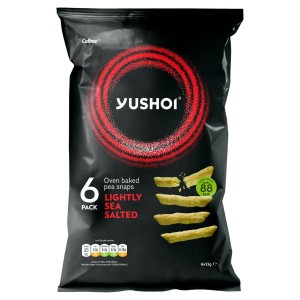 Yushoi Japanese Lightly Salted Baked Pea Snaps Multipack 6 x 21g