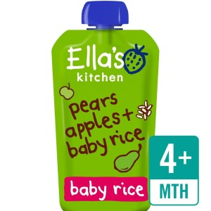Ella's Kitchen Organic Pears, Apples & Baby Rice 120g