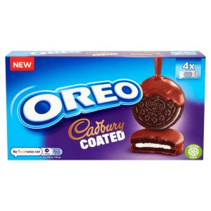 Oreo Cadbury Chocolate Coated 4 x 2 Biscuits 160g