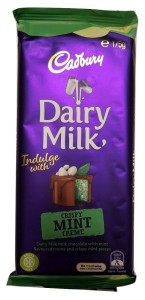 Cadbury Dairy Milk Crispy Mint Creme Chocolate 175g