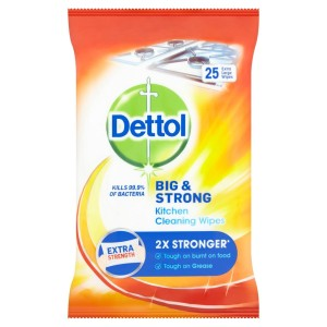 Dettol Big & Strong Extra Large Kitchen Wipes 25 per pack