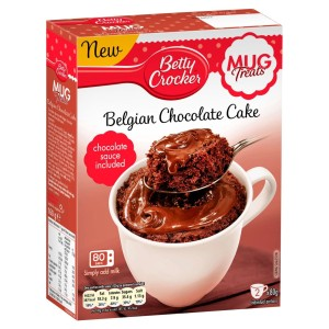 Betty Crocker Mug Treats Belgian Chocolate Cake Mix 2 x 80g