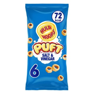 Hula Hoops Puft Salt & Vinegar 15g x 6 per pack