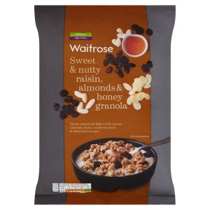 Waitrose Sweet & Nutty Raisin, Almonds & Honey Granola 1KG