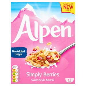 Alpen No Added Sugar Simply Berries 550g
