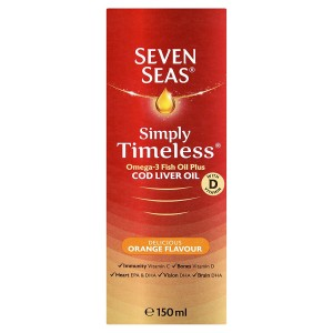 Seven Seas Omega-3 Fish Oil Plus Cod Liver Oil Orange Liquid 150ml