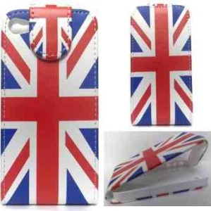 Apple iPhone 4/4S Union Jack Flag Flip Leather Case Cover Pouch - London Olympics 2012