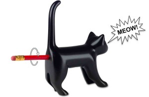 Sharp-end Cats Bum Pencil Sharpener - Black